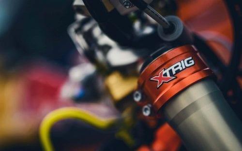 Close up of Xtrig logo