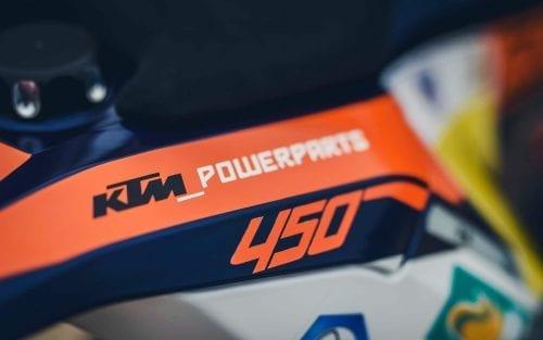 Close up of KTM part