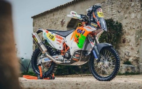 Laia Sanz's KTM 450 motorcycle