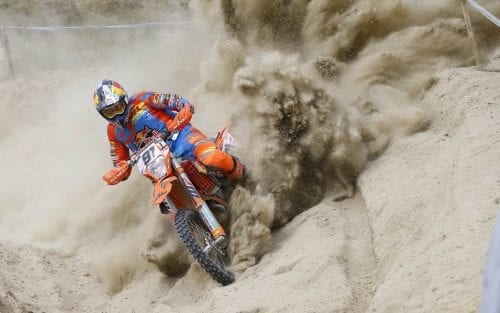 Nathan Watson riding a KTM 350 EXC-F in Puerto Lumbreras 2017
