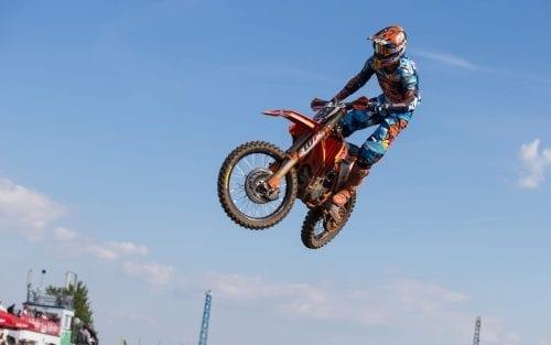 Rider Coldenhoff in MXGP air time shot