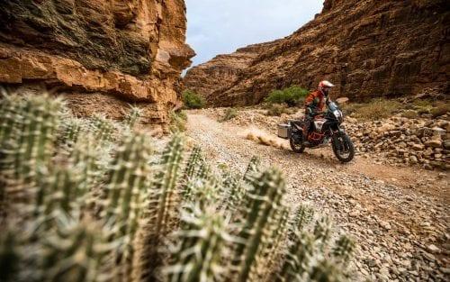 KTM rider, riding on gravel